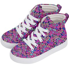 Flower Of Life Paint Pattern 10 Kid s Hi Top Skate Sneakers by Cveti