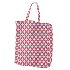 Circles3 White Marble & Red Denim (r) Giant Grocery Zipper Tote by trendistuff