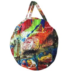 Untitled Red And Blue 3 Giant Round Zipper Tote