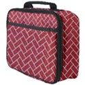 BRICK2 WHITE MARBLE & RED DENIM Full Print Lunch Bag View4
