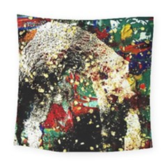 Wet Kiss 2 Square Tapestry (large) by bestdesignintheworld