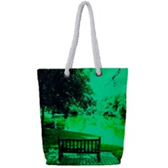 Lake Park 20 Full Print Rope Handle Tote (small) by bestdesignintheworld