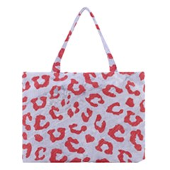 Skin5 White Marble & Red Colored Pencil Medium Tote Bag by trendistuff