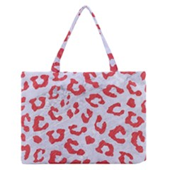 Skin5 White Marble & Red Colored Pencil Zipper Medium Tote Bag by trendistuff