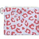 SKIN5 WHITE MARBLE & RED COLORED PENCIL Canvas Cosmetic Bag (XXXL) View1
