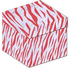 Skin3 White Marble & Red Colored Pencil (r) Storage Stool 12   by trendistuff