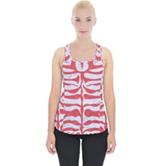 Skin2 White Marble & Red Colored Pencil (r) Piece Up Tank Top