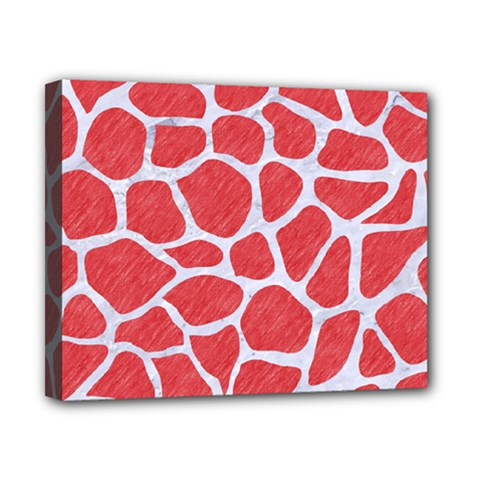Skin1 White Marble & Red Colored Pencil (r) Canvas 10  X 8  by trendistuff