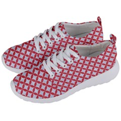 Circles3 White Marble & Red Colored Pencil (r) Men s Lightweight Sports Shoes by trendistuff