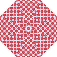 Circles2 White Marble & Red Colored Pencil (r) Straight Umbrellas
