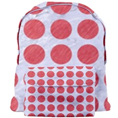 Circles1 White Marble & Red Colored Pencil (r) Giant Full Print Backpack