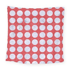 Circles1 White Marble & Red Colored Pencil Square Tapestry (large) by trendistuff