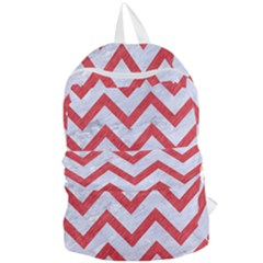 Chevron9 White Marble & Red Colored Pencil (r) Foldable Lightweight Backpack