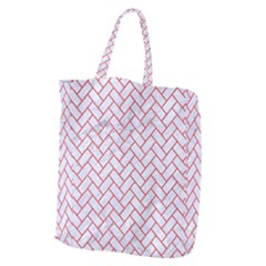 Brick2 White Marble & Red Colored Pencil (r) Giant Grocery Zipper Tote by trendistuff
