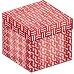 Woven1 White Marble & Red Brushed Metal Storage Stool 12   by trendistuff