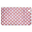 SCALES1 WHITE MARBLE & RED BRUSHED METAL (R) Samsung Galaxy Tab Pro 8.4 Hardshell Case View1
