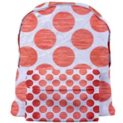 Circles2 White Marble & Red Brushed Metal (r) Giant Full Print Backpack by trendistuff