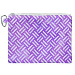 Woven2 White Marble & Purple Watercolor Canvas Cosmetic Bag (xxl) by trendistuff