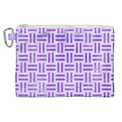 Woven1 White Marble & Purple Watercolor (r) Canvas Cosmetic Bag (xl) by trendistuff