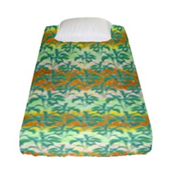 Colorful Tropical Print Pattern Fitted Sheet (single Size) by dflcprints