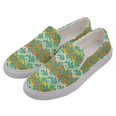 Colorful Tropical Print Pattern Men s Canvas Slip Ons by dflcprints