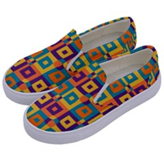 Artwork By Patrick Squares 4 Kids  Canvas Slip Ons by ArtworkByPatrick