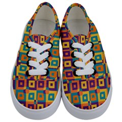 Artwork By Patrick Squares 4 Kids  Classic Low Top Sneakers