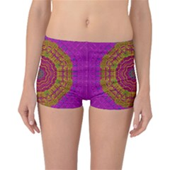 Summer Sun Shine In A Sunshine Mandala Boyleg Bikini Bottoms by pepitasart
