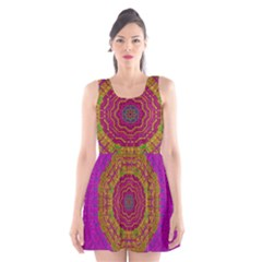 Summer Sun Shine In A Sunshine Mandala Scoop Neck Skater Dress