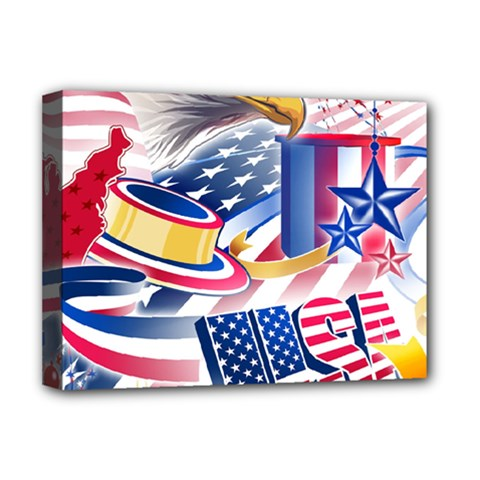United States Of America Usa  Images Independence Day Deluxe Canvas 16  X 12   by Sapixe