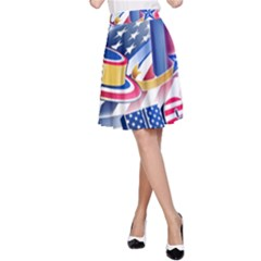 United States Of America Usa  Images Independence Day A Line Skirt