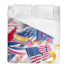 United States Of America Usa  Images Independence Day Duvet Cover (full/ Double Size) by Sapixe