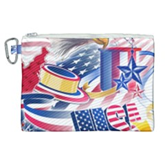 United States Of America Usa  Images Independence Day Canvas Cosmetic Bag (xl)