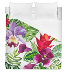 Vector Pattern Tropical Duvet Cover (queen Size)