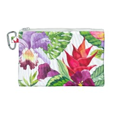 Vector Pattern Tropical Canvas Cosmetic Bag (large)