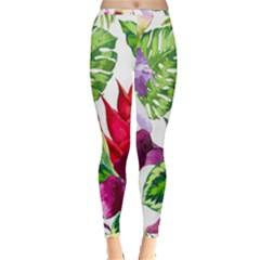 Vector Pattern Tropical Inside Out Leggings