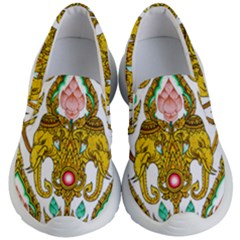 Traditional Thai Style Painting Kid s Lightweight Slip Ons by Sapixe