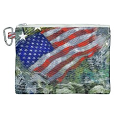 Usa United States Of America Images Independence Day Canvas Cosmetic Bag (xl) by Sapixe