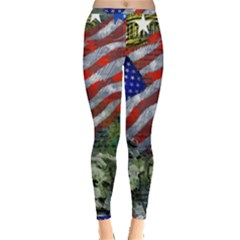 Usa United States Of America Images Independence Day Inside Out Leggings by Sapixe