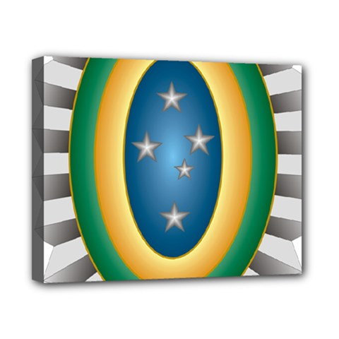 Seal Of The Brazilian Army Canvas 10  X 8  by abbeyz71