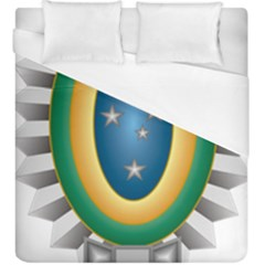 Seal Of The Brazilian Army Duvet Cover (king Size) by abbeyz71