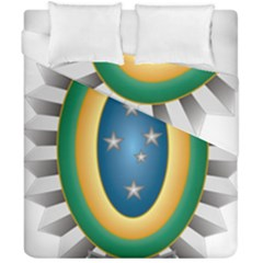Seal Of The Brazilian Army Duvet Cover Double Side (california King Size) by abbeyz71