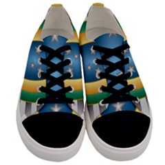 Seal Of The Brazilian Army Men s Low Top Canvas Sneakers