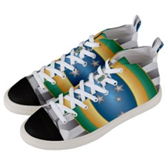 Seal Of The Brazilian Army Men s Mid Top Canvas Sneakers by abbeyz71