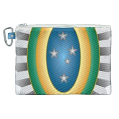 Seal Of The Brazilian Army Canvas Cosmetic Bag (xl) by abbeyz71