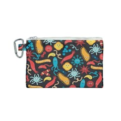 Virus Pattern Canvas Cosmetic Bag (small) by Sapixe