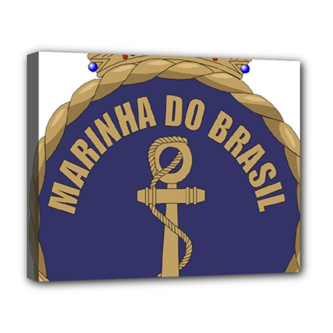 Seal Of Brazilian Navy  Deluxe Canvas 20  X 16   by abbeyz71