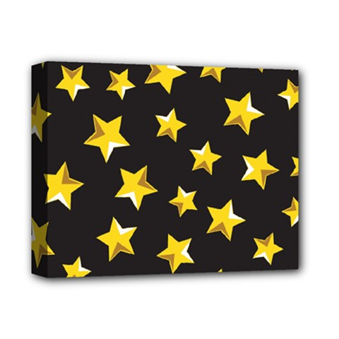 Yellow Stars Pattern Deluxe Canvas 14  X 11  by Sapixe