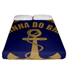 Seal Of Brazilian Navy  Fitted Sheet (king Size) by abbeyz71