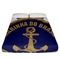 Seal Of Brazilian Navy  Fitted Sheet (california King Size) by abbeyz71